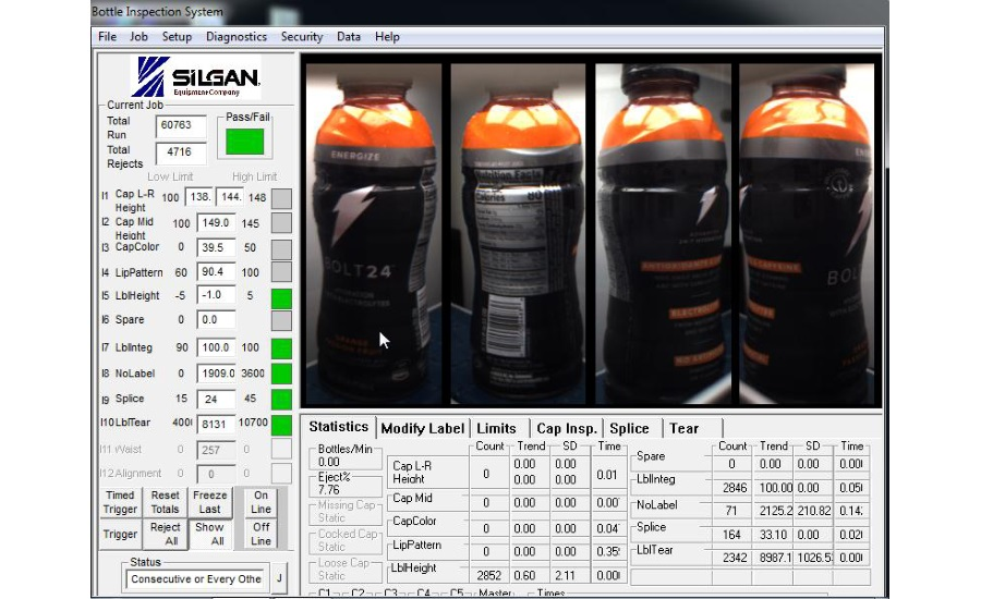 Silgan Equipment 51R84 vision inspection system