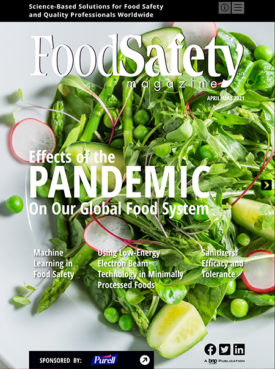 April/May Food Safety Magazine cover