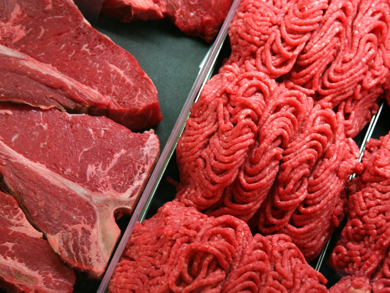 steaks and ground beef