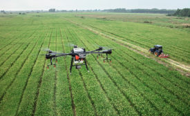 drones and field