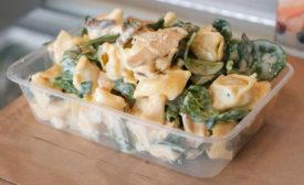 food in plastic container