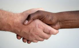 handshake, two hands
