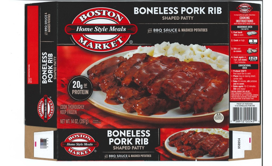 Bellisio Foods Recalls Boneless Pork Rib Frozen Entrée Products Due to Possible Foreign Matter Contamination