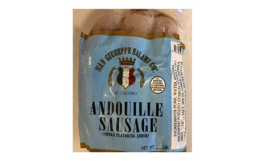 San Giuseppe Salami Co. by Giacomo Recalls Ready-To-Eat, Frozen Andouille Sausage Products due to Possible Foreign Matter Contamination