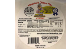 MawMaws Chicken Pies Recalls Chicken and Meat Products Due to Misbranding and Undeclared Allergens