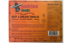 Padrino Foods, LLC Recalls Beef Tamales Products due to Mislabeling