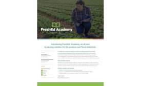 PMA launches Essentials of Produce Safety, an online training program uniquely designed for produce industry mid-level professionals