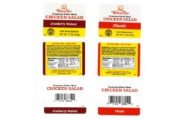 Willow Tree Poultry Farm, Inc. recalls ready-to-eat chicken salad products due to misbranding and an undeclared allergen