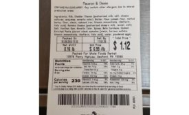 Allergy alert issued for undeclared egg in prepared macaroni & cheese sold at Whole Foods Market stores in five states