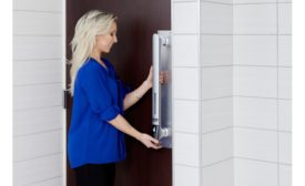 """First Full Line of """"Hand Sanitizing Door Handles"""" Now Available for Restaurants, Bars, Hotels, Buildings, etc."""