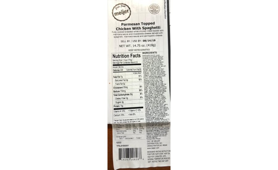Taylor Farms Illinois Inc. Recalls Chicken Products due to Possible Processing Defect