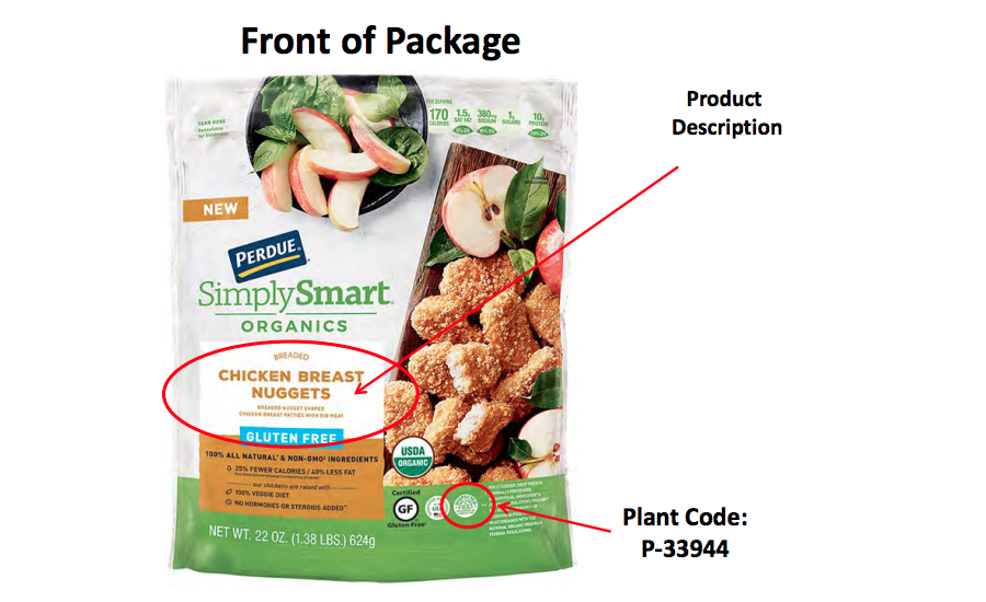 Perdue Foods LLC Recalls Simplysmart Organics Gluten Free Chicken Nugget Products Due to Possible Foreign Matter Contamination