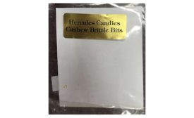 Hercules Candy LLC Issues Allergy Alert on Undeclared Peanuts in Cashew Brittle Bits