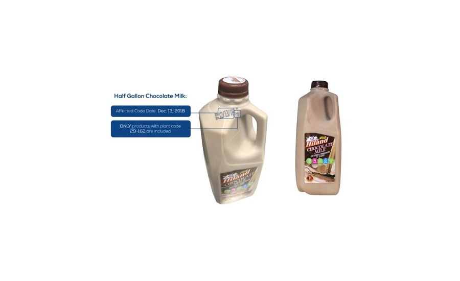 Hiland Dairy Announces Voluntary Recall of Hiland Dairy Half-Gallon Whole Chocolate Milk