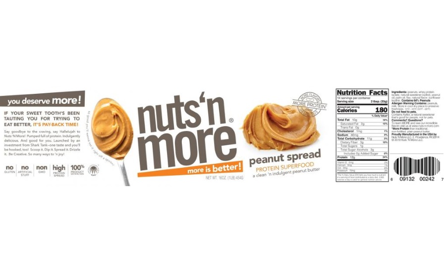 Nuts 'N More LLC. Recalls: Plain Peanut Spread Because Of Possible Health Risk