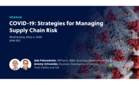 Controlant hosts online webinar to help organizations develop strategies for managing supply chain risk during COVID-19