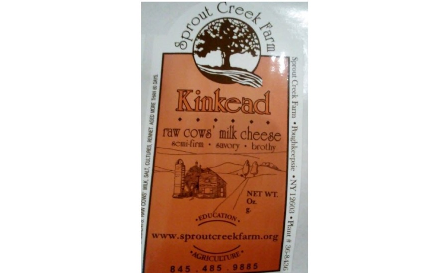 Sprout Creek Farm Recalls Kinkead Cheese due to Possible Health Risk