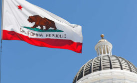 California State Capitol and Flag