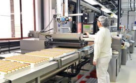 operator on food production line