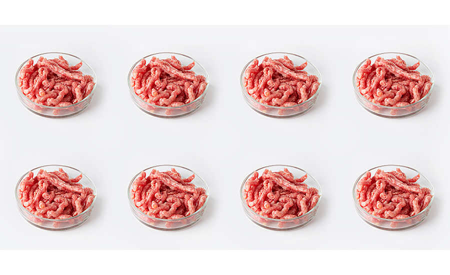 ground beef in small bowls