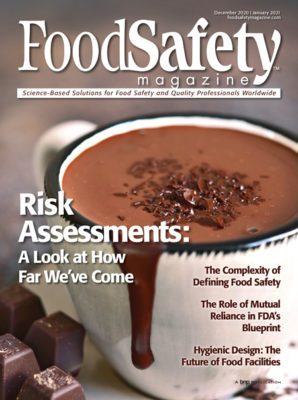 Food Safety Magazine December 2020 January 2021 Cover
