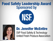 NSF International Honors Food Safety Pioneer Dr. Jennifer McEntire at 2020 Food Safety Summit
