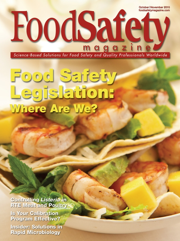 October November 2010 Food Safety Magazine