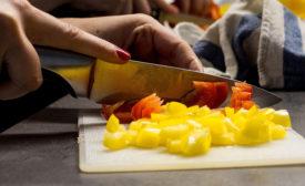 chopping food