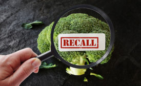 recall, magnifying glass, broccoli