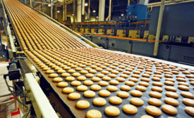 cookies on a conveyor