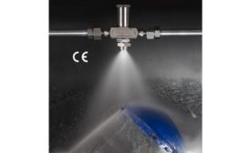 EXAIR No Drip Spray Nozzles sanitize, clean and cool while conserving liquid