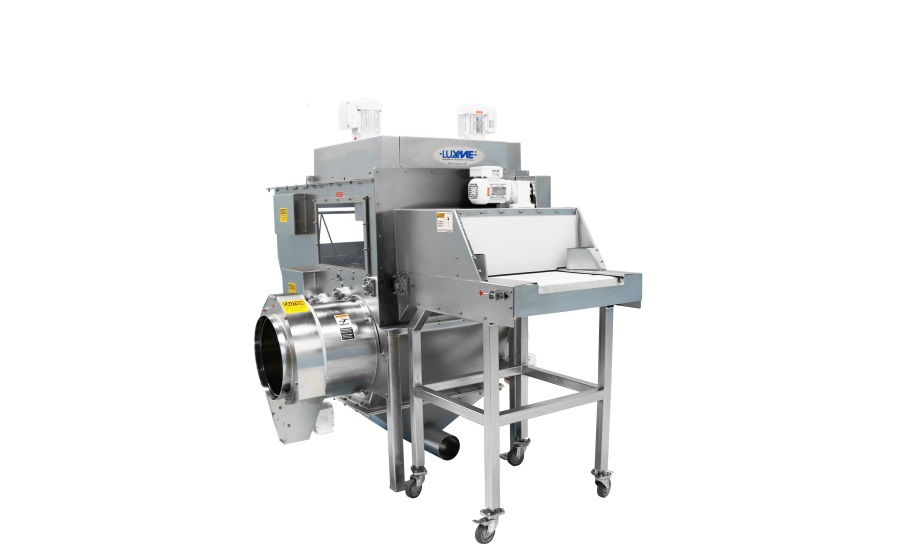 Luxme's hygienic MiniLux food-grade bag slitter eliminates dust and cuts costs