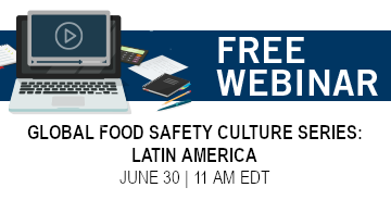Global food safety culture webinar
