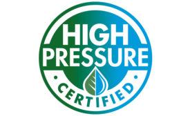 High Pressure Certified Logo - Beverage Industry